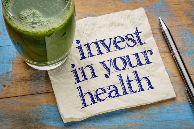 Investeer in uw gezondheidsraad royalty-vrije stock fotografie