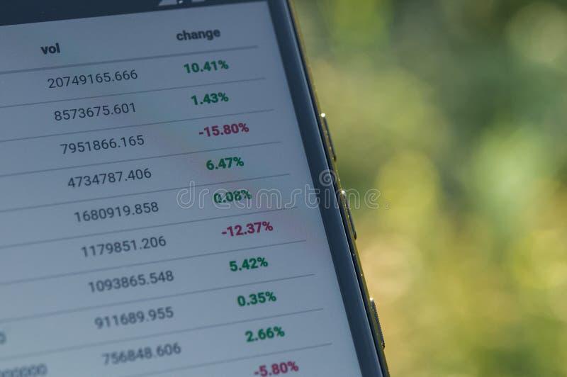 Investera och aktiemarknad royaltyfri bild