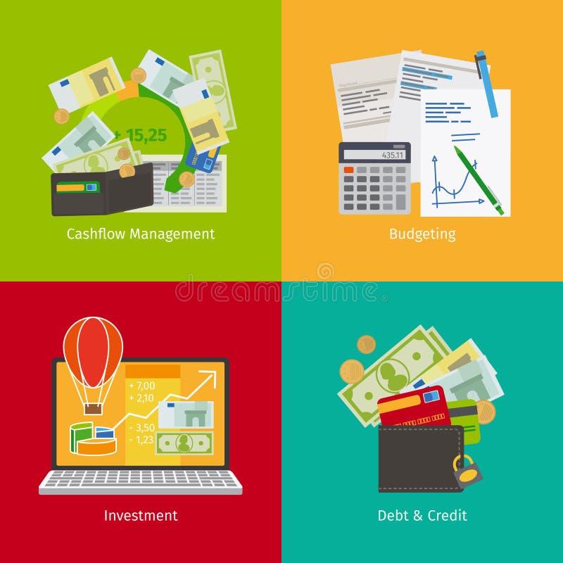 Investera och personlig finans stock illustrationer