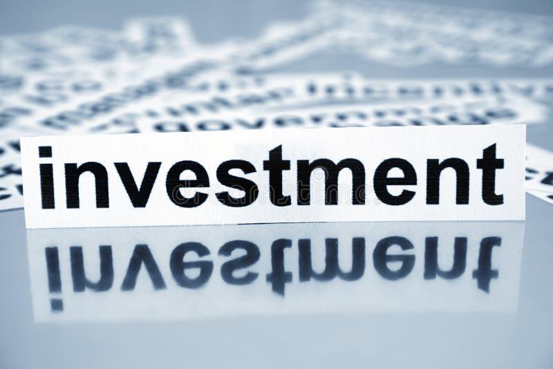Investering royalty-vrije stock fotografie