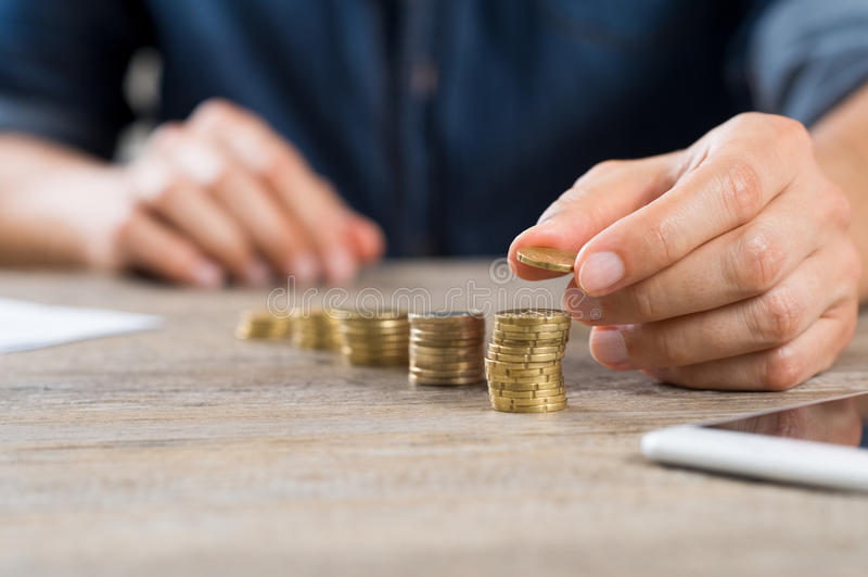 Investering en besparingsconcept royalty-vrije stock afbeelding