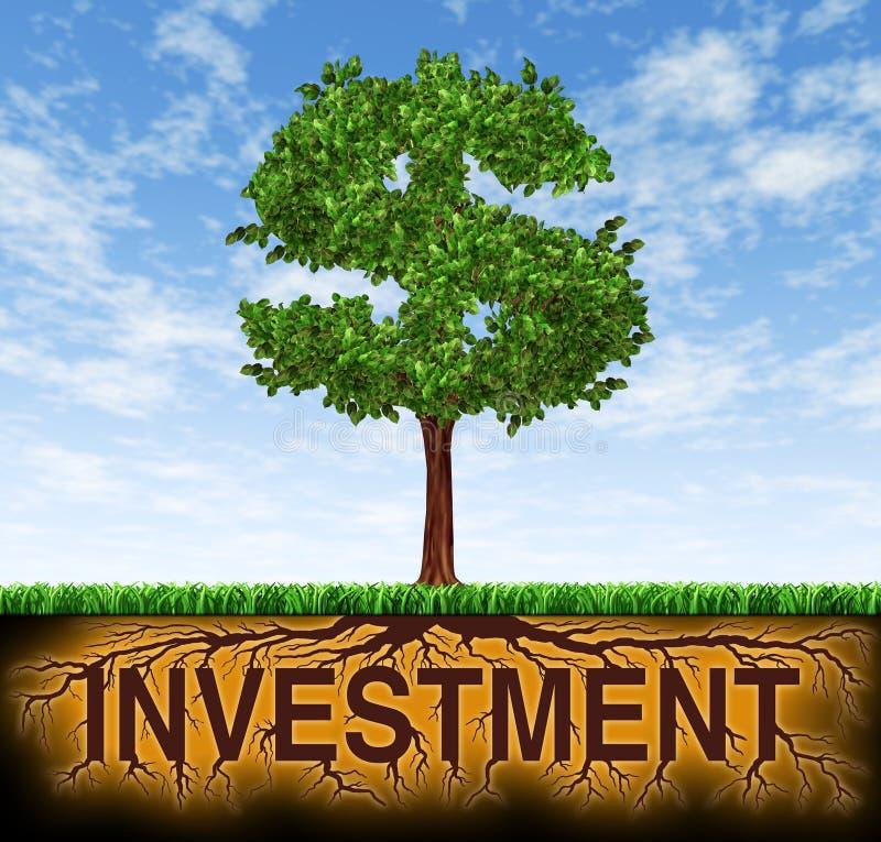 Investering en de financiële groei stock illustratie