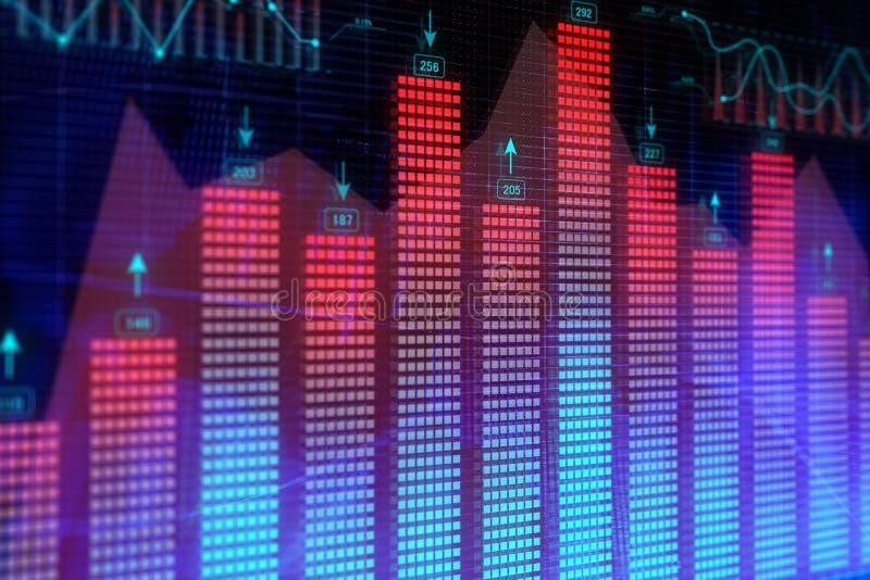 Investering, handels, financiën en gegevensconcept royalty-vrije illustratie