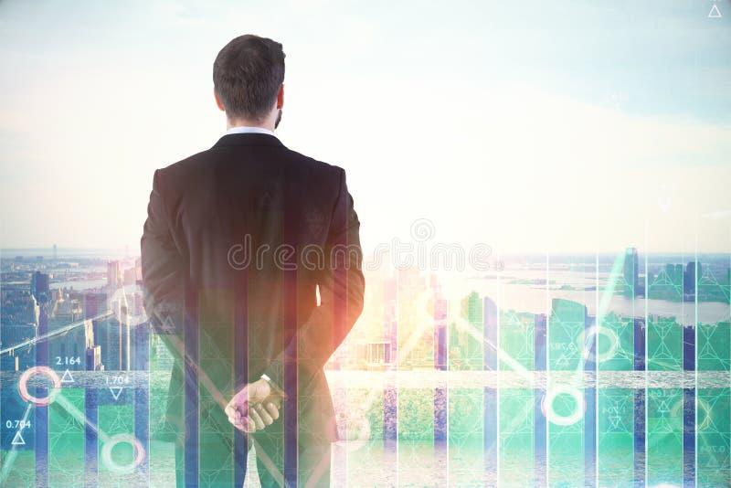 Investering, makelaar en marktconcept royalty-vrije stock afbeelding