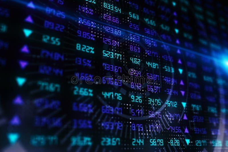 Investering- och indexbegrepp stock illustrationer