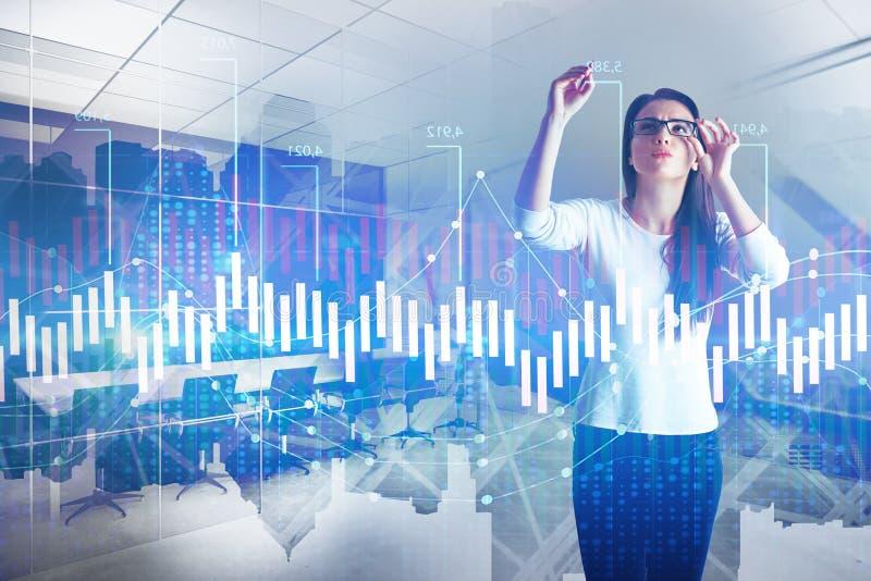 Investering- och marknadsföringsbegrepp arkivbild