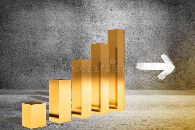 Investering- och tillväxtbegrepp stock illustrationer