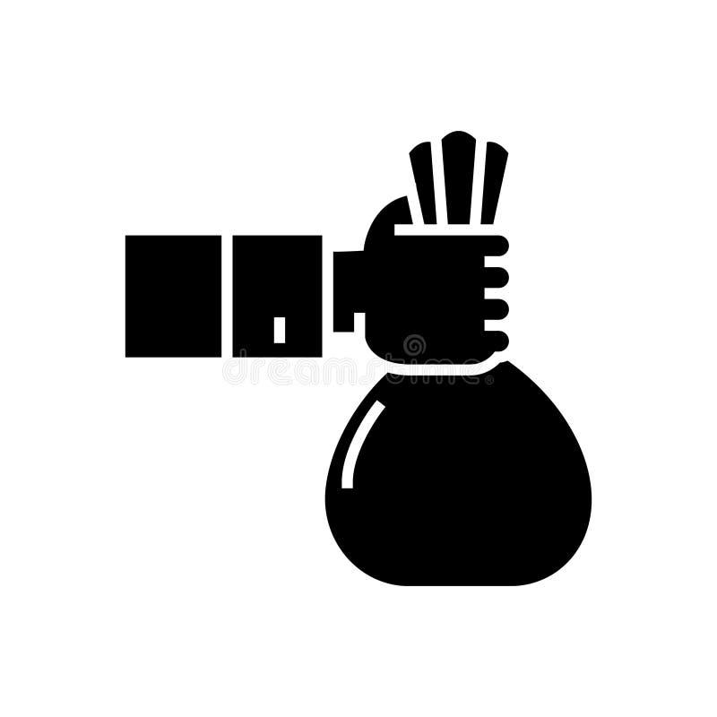 Investering - sponsor - finansieringsymbol, vektorillustration, svart tecken royaltyfri illustrationer