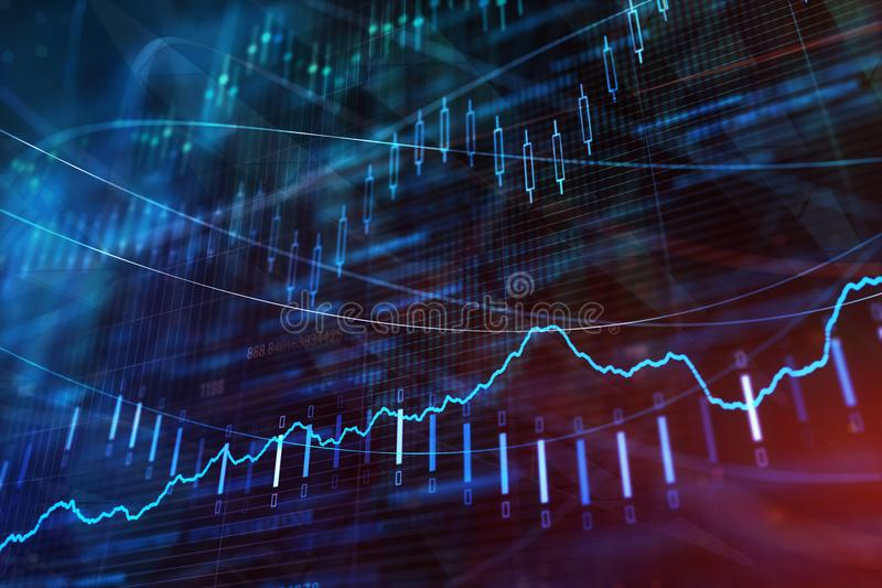 Investering, voorraad en winstbehang royalty-vrije stock foto's