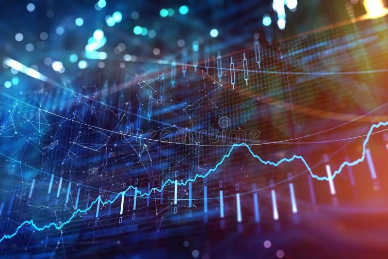Investering, voorraad en winsttextuur royalty-vrije stock afbeelding