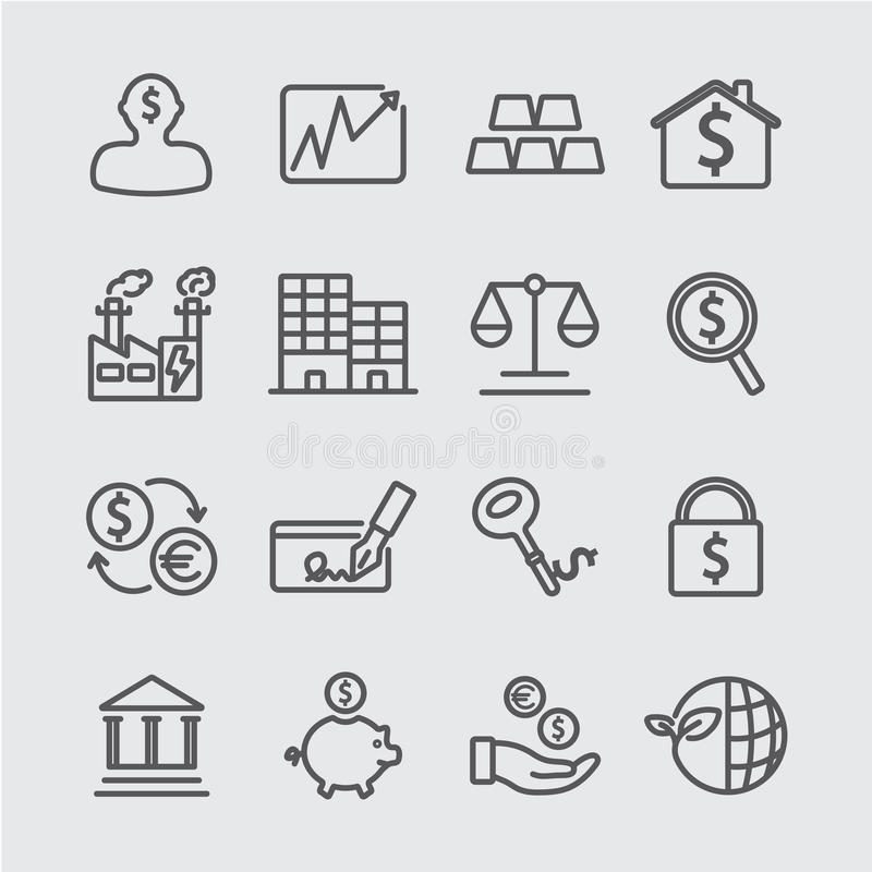 Investeringlinje symbol vektor illustrationer