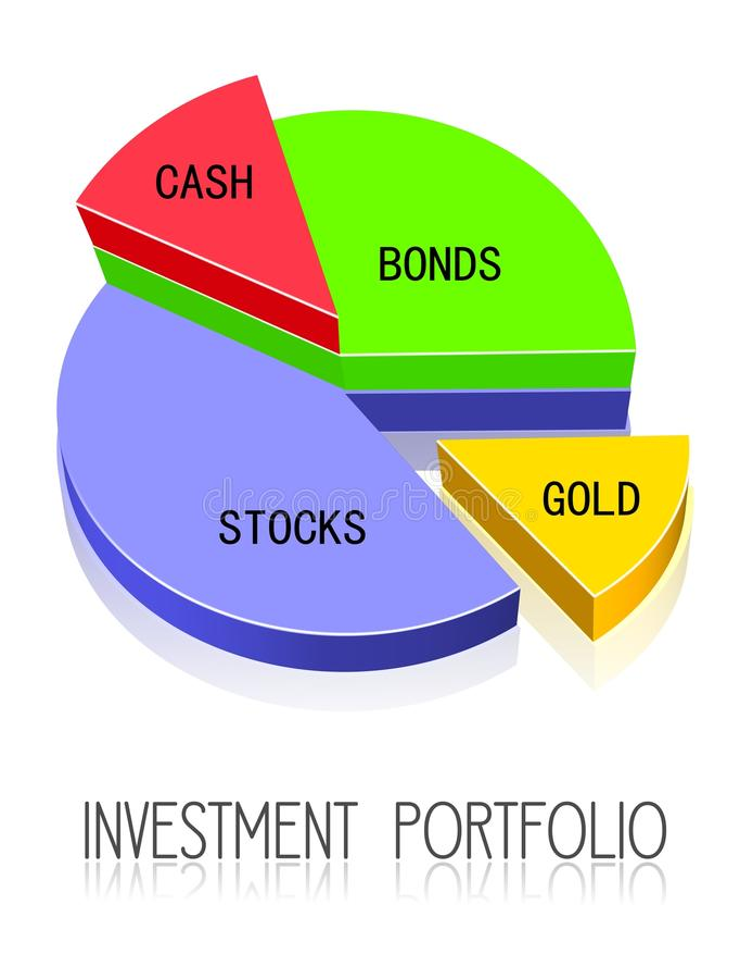 investeringportfölj stock illustrationer