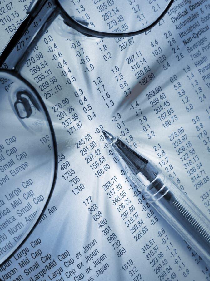 investeringscrutiny arkivfoto