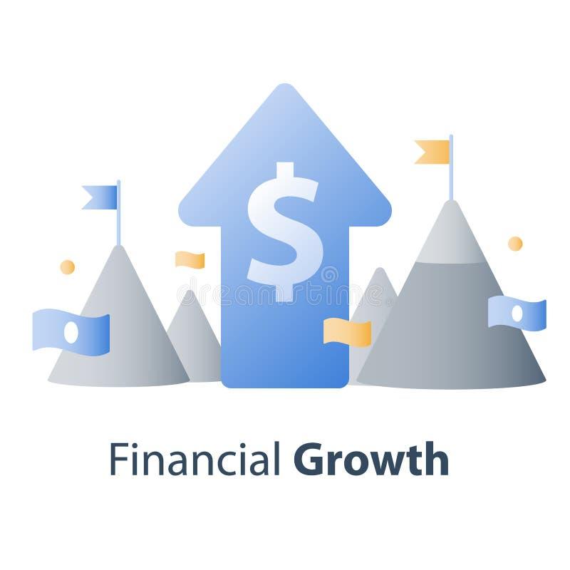 Investeringsfonds, financieel concept, nieuw bedrijfsidee, startgeld, hoofdbeheer royalty-vrije illustratie