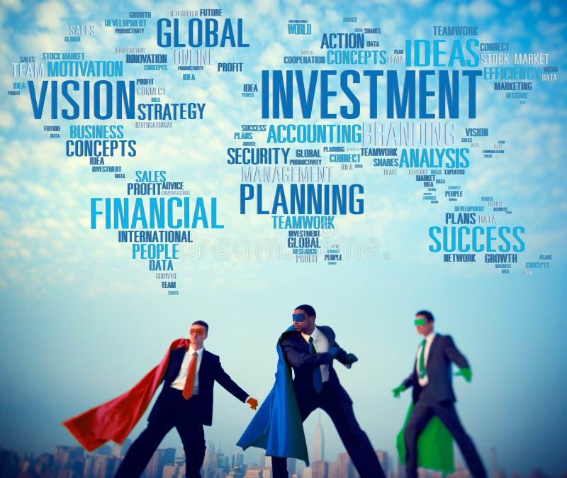Investeringvision som planerar globalt begrepp för finansiell framgång royaltyfri foto