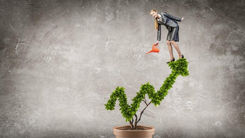 Investieren Sie, um Ihre Einkommen zu erhöhen Gemischte Medien stockfotografie