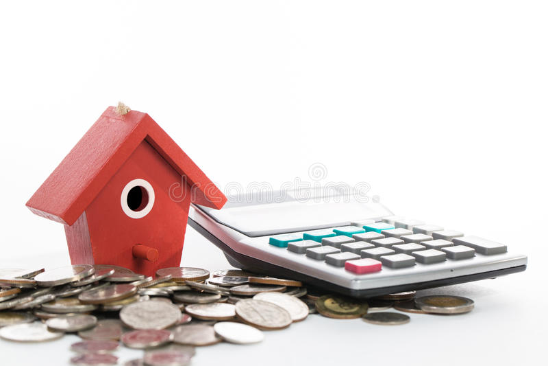 Investieren Sie und Giralgeld für Ihr Eigentum stockfoto