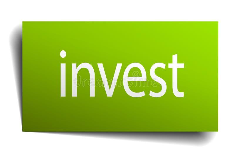 investieren Sie Zeichen stock abbildung