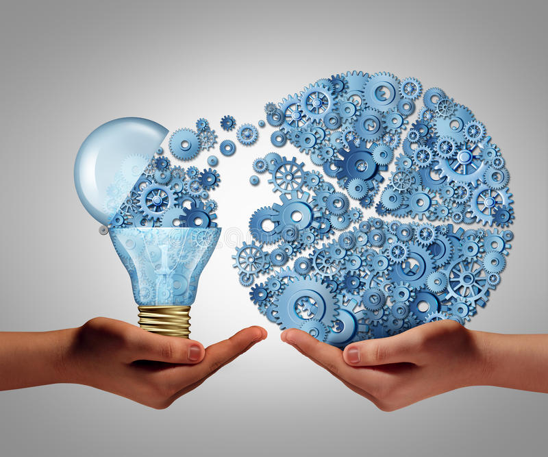 Investierung in den Ideen stock abbildung