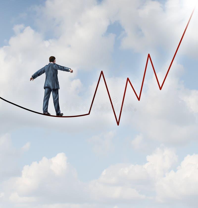 Investierung des Risikos stock abbildung