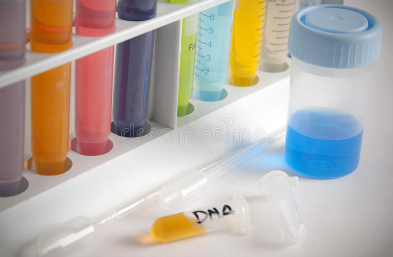 Investigação científica da química do ADN fotografia de stock