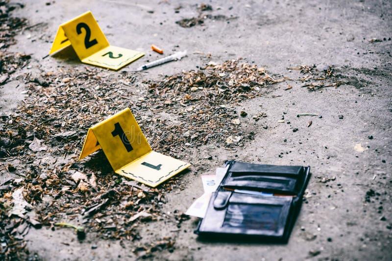 Investigação da cena do crime imagem de stock