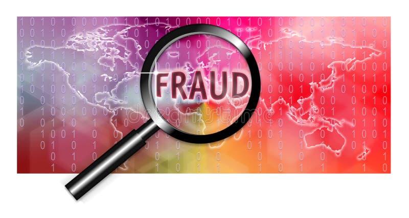 Investigação da fraude do foco do conceito da segurança ilustração do vetor