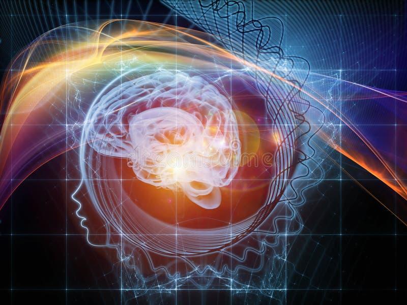 Investigação na mente ilustração do vetor