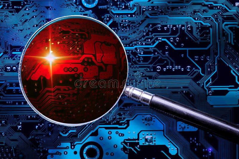 Investigação para o cybersecurity foto de stock royalty free