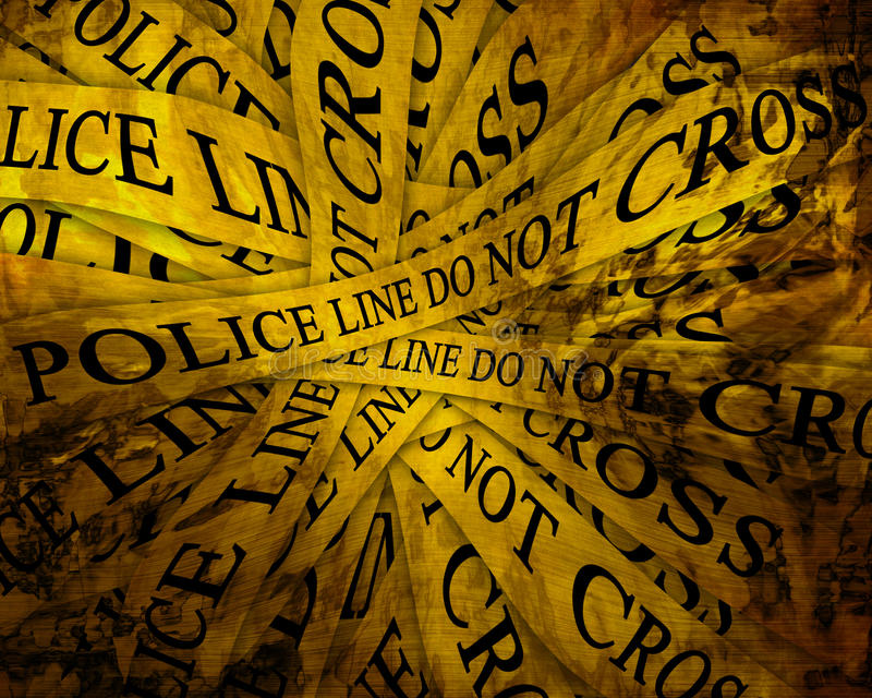 Investigação policial ilustração royalty free