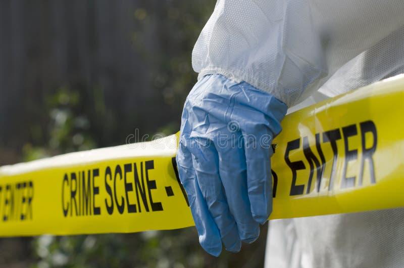 Investigación de la escena del crimen foto de archivo