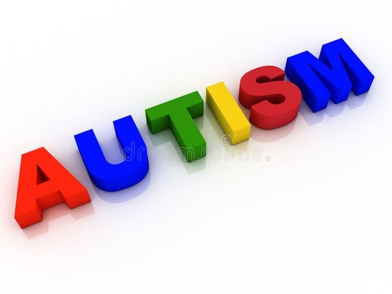 Investigación de la esperanza del fondo de la palabra del autismo libre illustration