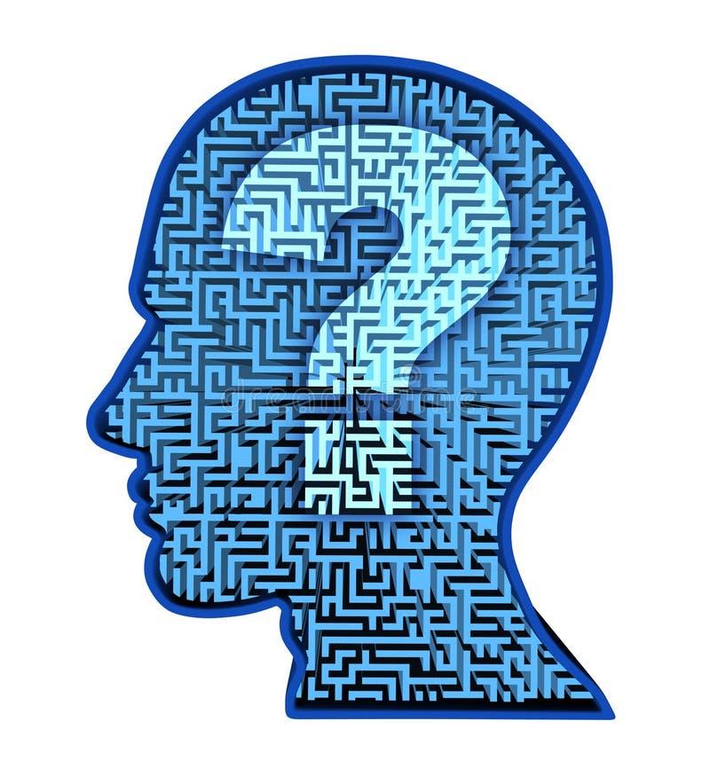 Investigación del cerebro humano stock de ilustración