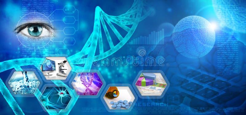 Investigación farmacéutica ilustración del vector