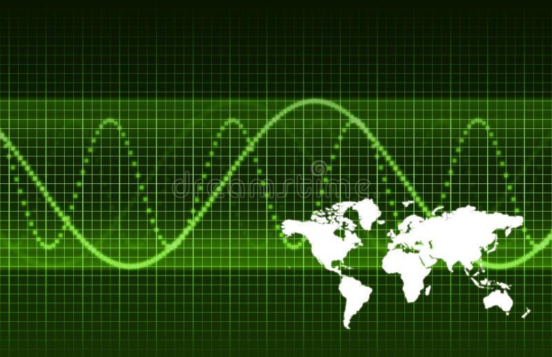 Investigación financiera del mercado mundial ilustración del vector