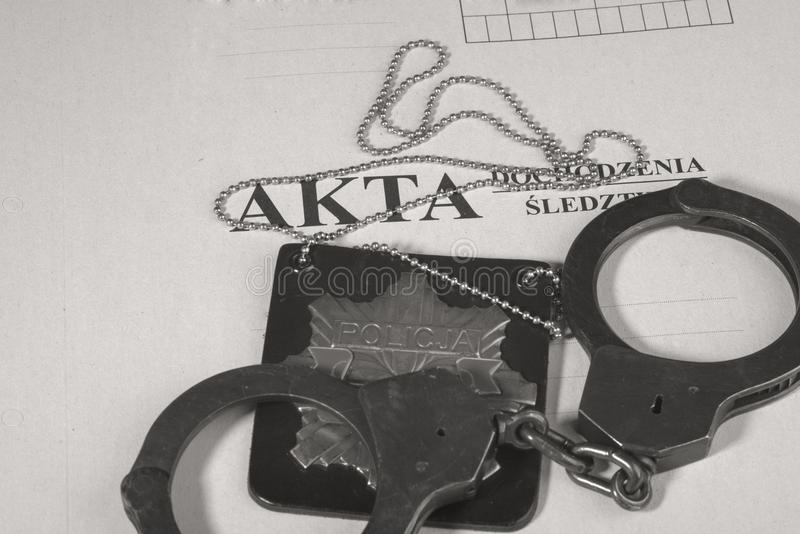 Investigación policial del fichero imagenes de archivo