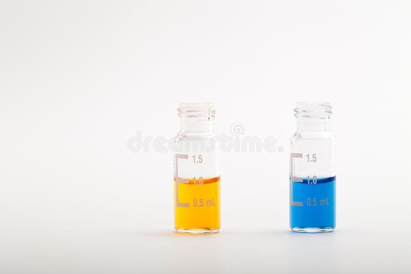 Investigación química - muestras para el análisis fotografía de archivo