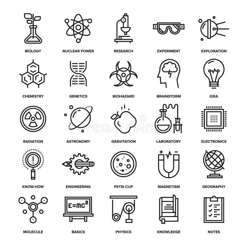 Investigación y ciencia stock de ilustración