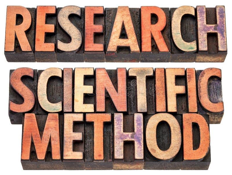 Investigación y método científico foto de archivo