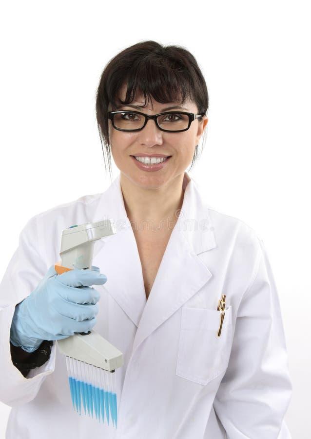 Investigador científico sonriente fotografía de archivo