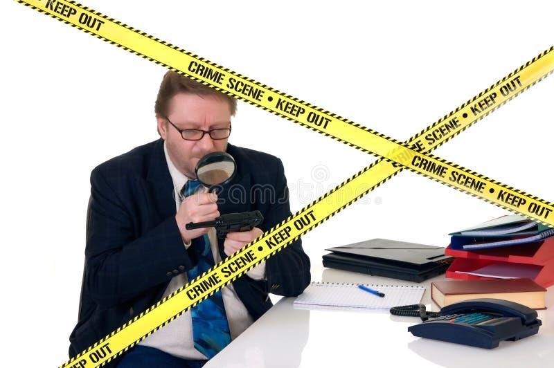 Investigador da cena do crime de CSI fotos de stock