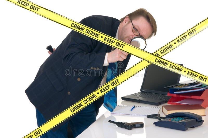 Investigador da cena do crime de CSI imagens de stock