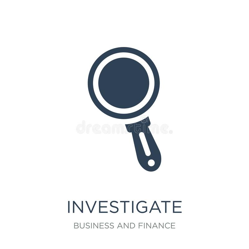 investigate icon in trendy design style. investigate icon isolated on white background. investigate vector icon simple and modern royalty free illustration
