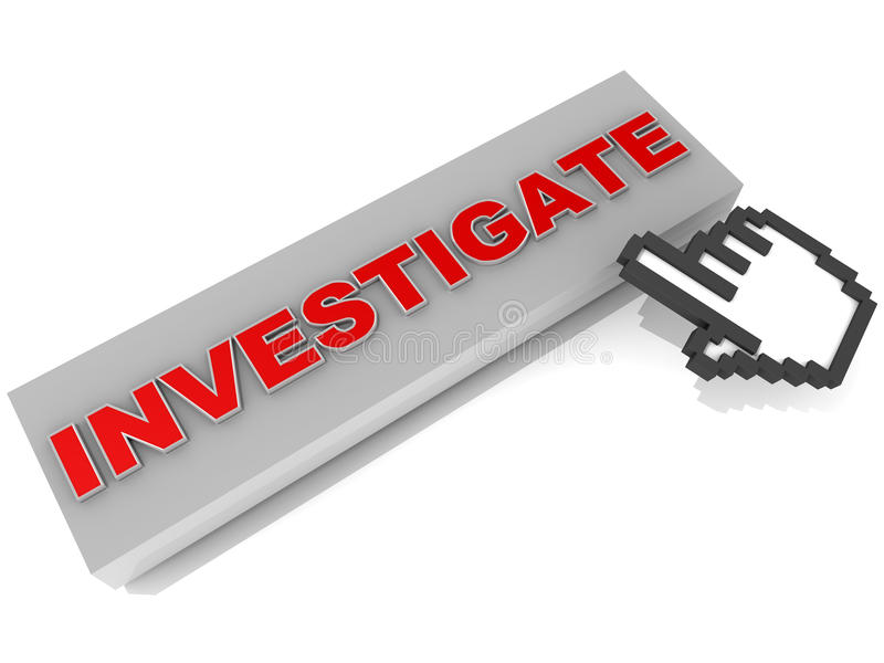 Investigate information technology activity royalty free illustration