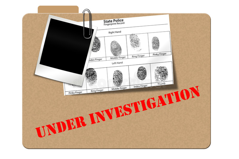 Investigation folder royalty free illustration