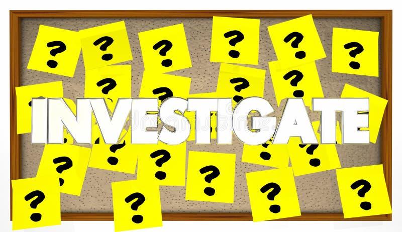 Investigue las pistas de la búsqueda solucionan misterio libre illustration