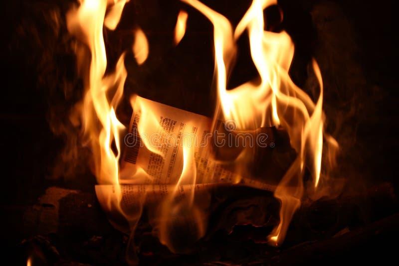 Investimenti bruciati fotografie stock libere da diritti