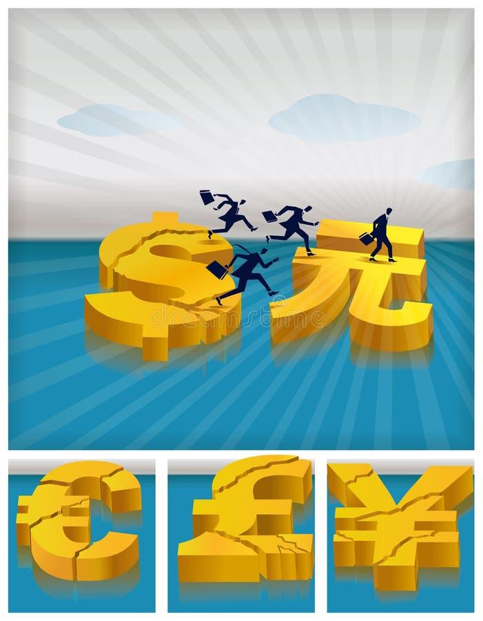 Investimenti di migrazione illustrazione vettoriale