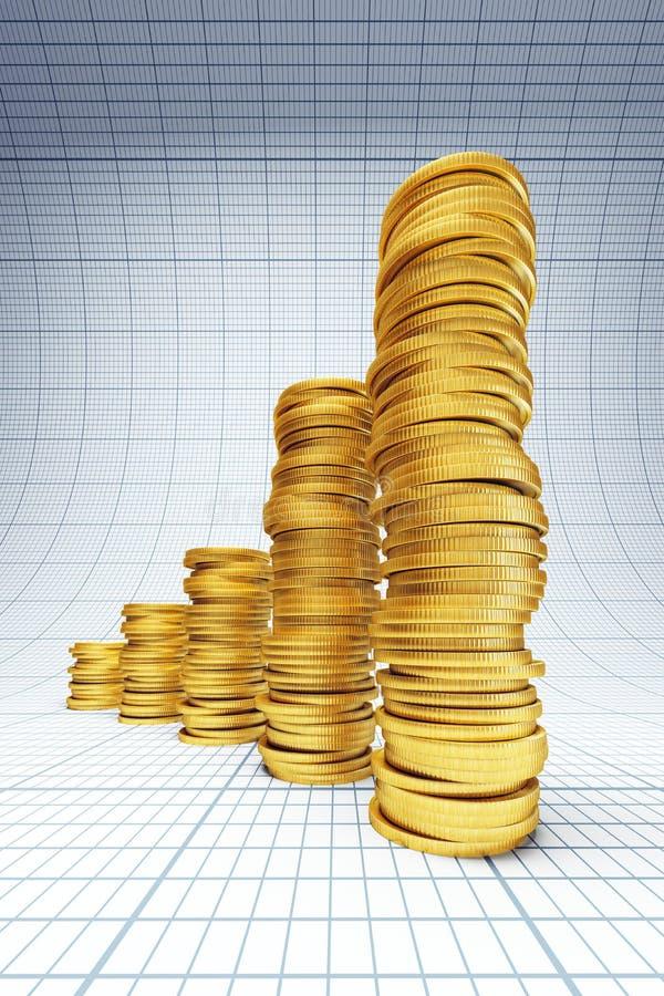 Investimento bem sucedido ilustração royalty free