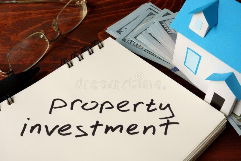 Investimento da propriedade fotografia de stock
